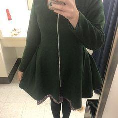 Loose dress A set of Gray chiffon dress with maxi skirt Red Wool Coat, Long Wool Coat, Wool Cape, Cape Coat, Winter Skirt, Winter Dresses, Dress Winter, Long Wool Skirt, Wool Skirts