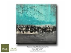 Blue and Grey Abstract Painting - Brown Blue Painting - Contemporary Art