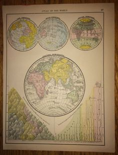 Antique world map 1887 western hemisphere map world globe map 1888 eastern hemisphere large map 1500 use pin10 at checkout for 10 off gumiabroncs Images