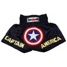 THAI BOXING SHORTS CAPTAIN AMERICAN BS-1166
