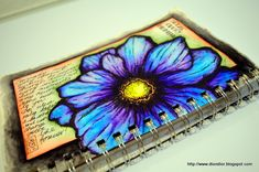 Dion Dior: Whatever Happened to Natural? -  this journal page was done in Tombow water-soluble markers and pen & ink.