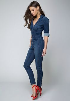2ed92c535a Bebe Denim Corset Jumpsuit Denim Romper