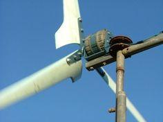 generador eólico casero en movimiento