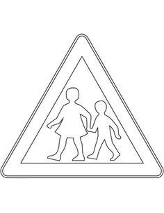 Liikennemerkit Suomessa: Lapsia Värityskuva. Road Transport, All Schools, First Grade, Eminem, Kindergarten, Preschool, Classroom, Signs, Color