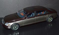 AutoArt 1/18 Die Cast Car Maybach 62 Burgundy, Metallic Gray  VERY RARE! #AUTOart #Maybach
