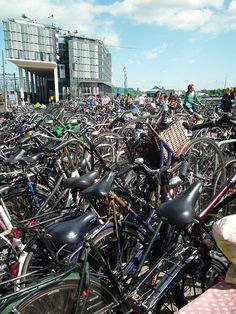 #Bikes in #Amsterdam - Crazy!