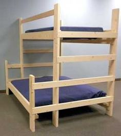 Easy, strong, cheap bunk bed. | DIY Wood Projects | Pinterest