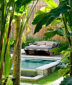 The Purist Villas & Spa Hotel - Ubud luxury boutique hotel - Bali - Indonesia Outdoor Beds, Outdoor Spaces, Outdoor Living, Ubud Villas, Ubud Hotels, Swimming Pools Backyard, Swimming Pool Designs, Style Bali, Zen