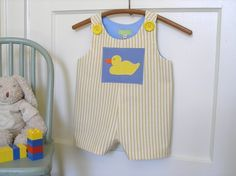 Yellow Duck #Romper by roomtoromp on Etsy, $35.00