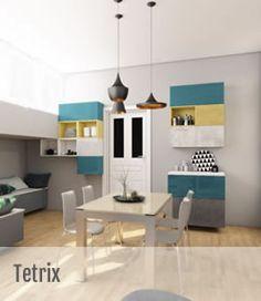 Bucataria Tetrix este inspirata din legendarul joc video Tetreix, geniul creativ al lui Michael Young si Scavolini permit beneficiarului libertatea de a se juca si de a incerca o noua abordare asupra vietii , una fara limite. Office Desk, Minimalism, Loft, Bed, Table, Furniture, Model, Home Decor, Lofts