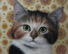 Angela Lizon Space Cadet 121 x 152 cm oil on canvas I Love Cats, Cool Cats, Celtic Animals, Cat Drawing, Pretty Cats, Cat Face, Cats And Kittens, Tabby Cats, The Guardian