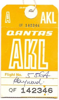 Luggage Tag to Auckand NZ