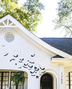 Simple foam cut-out bats make an awesome and unique Halloween decoration!