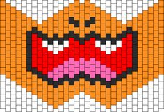 Charizard Mask bead pattern Beading Patterns Free, Peyote Patterns, Cross Stitch Patterns, Bead Patterns, Charmander, Charizard, Kandi Mask Patterns, Rave Gear, Crochet Faces