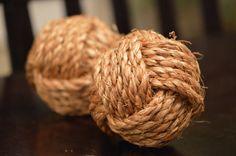 Decorative Monkey Fist Knots (set of 2) on Etsy, $14.00