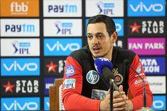 Mumbai Indians secure Quinton de Kock transfer from RCB - cricscorenow Indian Cricket News, Shane Watson, Cricket Update, Ab De Villiers, World Cricket, David Warner, Chennai Super Kings, T Bag, Mumbai Indians