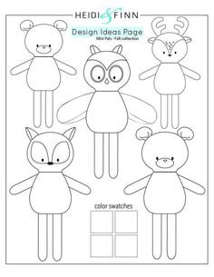 NEW Mini Pals Fall collection rag doll animal sewing patternYou can find Rag dolls and more on our website.NEW Mini Pals Fall collection rag doll animal sewing pattern Animal Sewing Patterns, Doll Patterns, Sewing Stuffed Animals, Stuffed Toys Patterns, Softies, Plushies, Sewing Crafts, Sewing Projects, Tuto Doudou