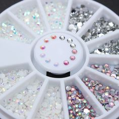 1 Box Colorful Resin Nail Rhinestones