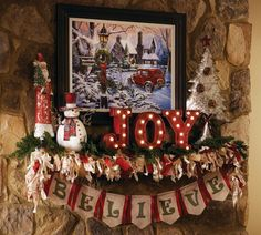 These four steps will help you make your fireplace mantel the merriest place in the house! Check out these inspirational pictures and four easy steps!