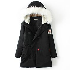 Fashion Oversized Solid Color Loose Hooded Warm Padded Coat