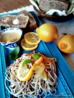 Soba Noodles with Lemon Cream Sauce on Canned-Time.com #Vegan # Gluten Free #Healthy Pastas