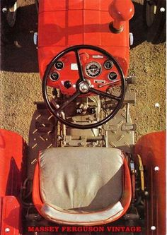 Beautiful, regardless of where you look at it from!   An overhead shot of a vintage #MF 135 giving us a different perspective.  #MasseyFerguson #tractors - #CultivatingTheWorld #TAFE  Photo courtesy: Massey Ferguson Vintage