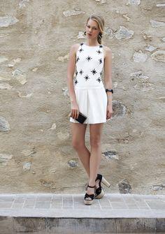 Vestido curto bordado verão 2016 Romariabh #dress #cute #fashion #moda #woman #romariabh