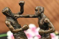 Hand Crafted Boxing Match Bookend Book End Bronze