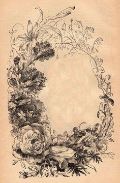 Victorian Floral Frame - The Graphics Fairy
