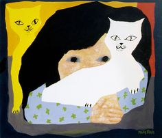 Girl and Cats