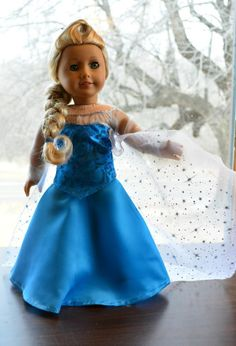 "3 Day Auction Queen Elsa's Dress in Frozen Clothes for 18"" American Girl -Lumi"