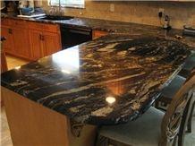 Titanium Granite Kitchen Countertop, Titanium Black Granite Kitchen Countertops