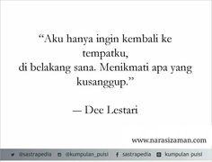 Dee Lestari Quotes 1