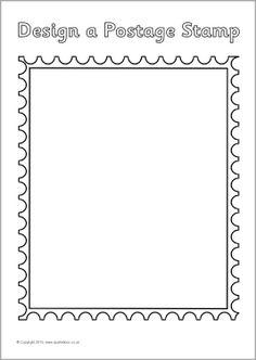 Postage stamp design sheets (SB3634) - SparkleBox