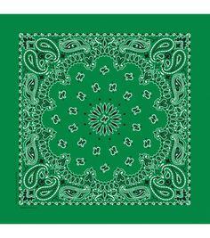 Hav-A-Hank Premium USA Hergestellt Paisley Halstuch Kopftuch Stirnband Schal Paisley Design, Paisley Print, Create Invitations, Cotton Bandanas, Green Fashion, Kelly Green, Halloween, Wearable Art, Fabric Crafts