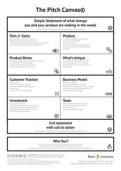 Service Design Network - The PItch Canvas It Service Management, Change Management, Business Management, Business Planning, Business Ideas, Brand Management, Business Canvas, Design Thinking, Lean Startup
