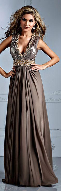 Terani Couture Mocha Dress