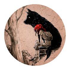 """The Black Dog"" von Jorge Tirado - schwarzes Tattoo Animal Art, Dog Tattoo, Cute Art, Illustration Art, Wolf Art, Featured Artist, Art Inspiration, Dog Illustration, Fairytale Art"