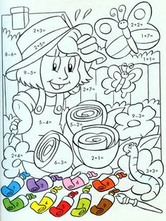 ❺ Наша начальная школа ❺ Math Coloring Worksheets, Writing Practice Worksheets, Kids Math Worksheets, 1st Grade Worksheets, Preschool Activities, School Lessons, Math Lessons, Preschool Journals, Math Sheets