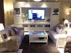 Our exact entertainment center from ikea! I absolutely love it!! - WB :) Ikea - Besta