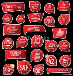Vector: Modern badges collection