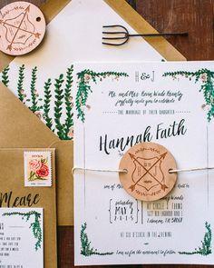 Rustic Watercolor Garden Wedding Invitations