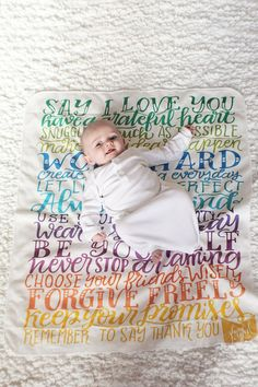 Hey, I found this really awesome Etsy listing at https://www.etsy.com/listing/211029768/baby-swaddle-blanket-rainbow-wishes