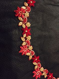 Jardozi knotted embroidery on neck line