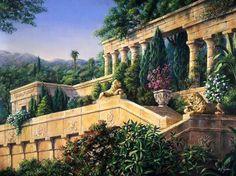 Pintura Exterior, Fantasy Castle, Fantasy Places, Seven Wonders, Fantasy Landscape, Ancient Civilizations, Wonders Of The World, Garden Design, Beautiful Places
