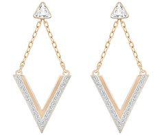 With its contemporary V silhouette, this versatile pair of rose gold-plated pierced earrings captures the graphic look. They are adorned with... Shop now
