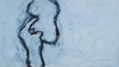 """Susan Rothenberg Somebody Else's Hand 1979 Acrylic and flashe on canvas 53 x 91 cm 21 x 36"""""""