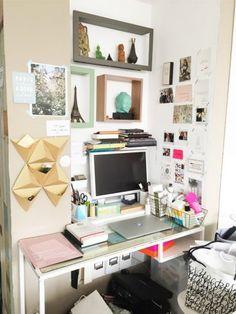 Chez Sophie Trem, du blog The Other Art of Living. Son bureau, son environnement