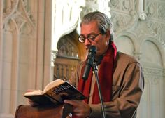 Paul Auster during his reading in Green-Wood's Historic Chapel. Paul Auster, Writers, Reading, Wood, Green, Woodwind Instrument, Timber Wood, Reading Books, Authors