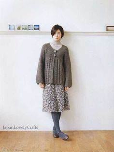 Hand Knit & Crochet Clothes - Japanese Knitting and Crocheting Pattern Book for Women